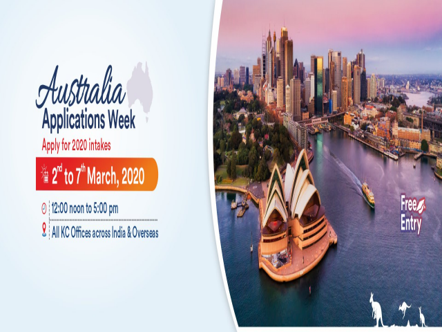 Australia Applications Week from 2nd to 7th March 20 at KC Nagpur
