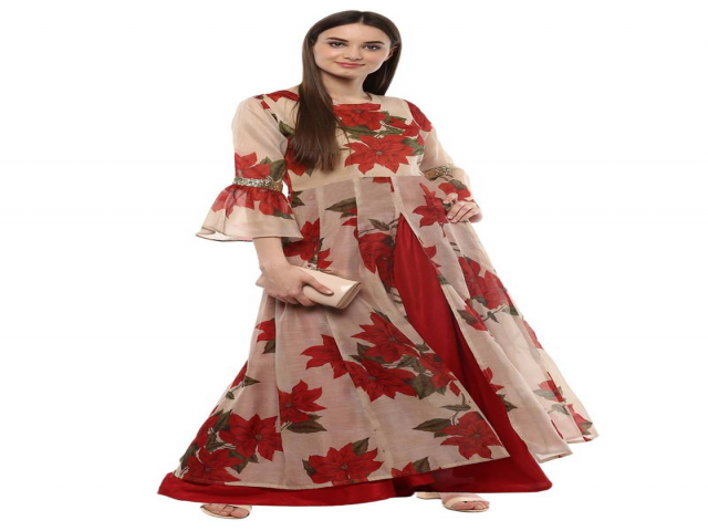 Chanderi Kurti at Budget Prices Online at Mirraw