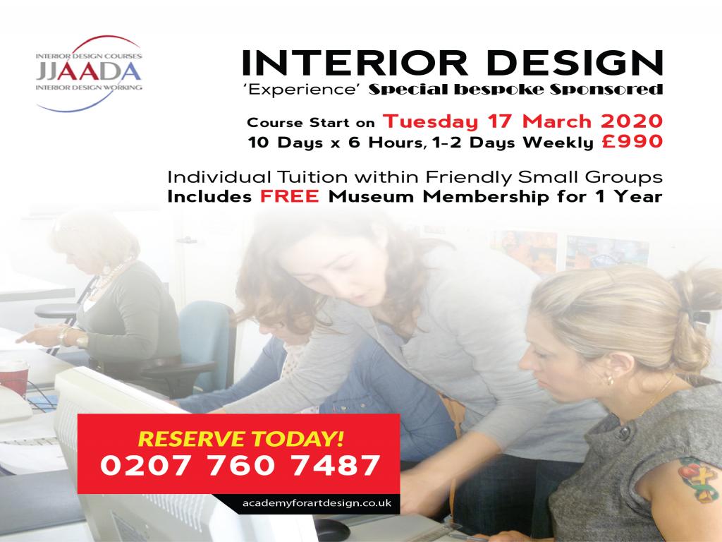 Interior Design Special Bespoke Sponsored Experience Course