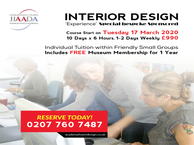 Interior Design Special Bespoke Sponsored Experience Course