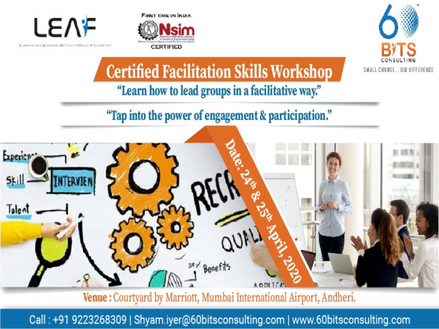 Certified Facilitation Skills Workshop in Mumbai on 24th & 25th April 2020