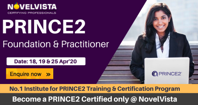 Avail PRINCE2 Certification Cost at the lowest in India by NovelVista