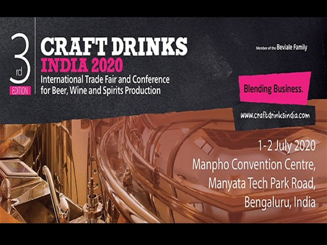 Craft Drinks India 2020 | India's Only AlcoBev Show | 1 -2 J