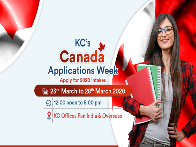 Attend Canada Applications Week from 23rd to 28th March, 2020 at KC Offices