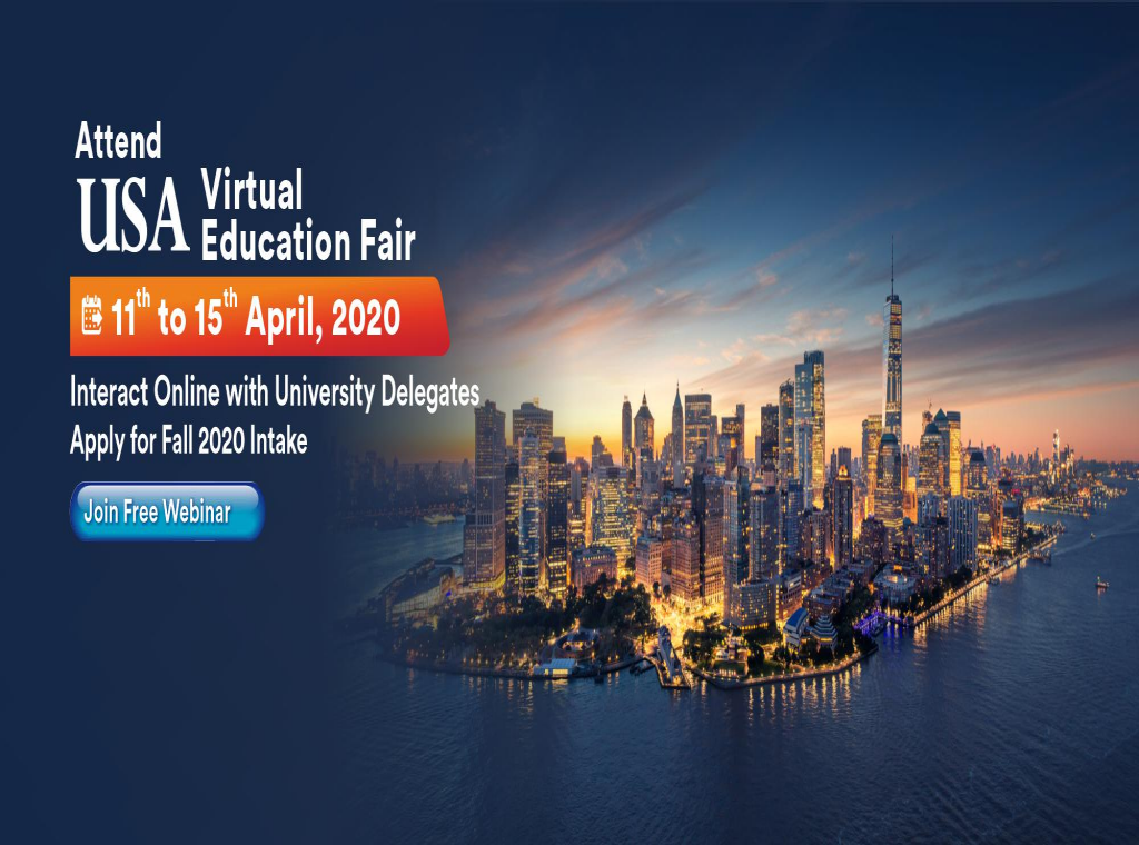 Attend USA Virtual Education Fair from 11th to 15th April 2020