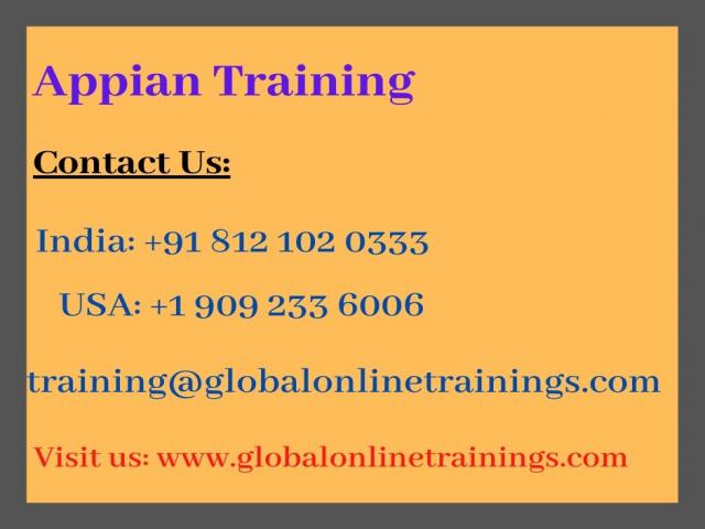 Appian Training | Best Appian BPM Online Training - GOT