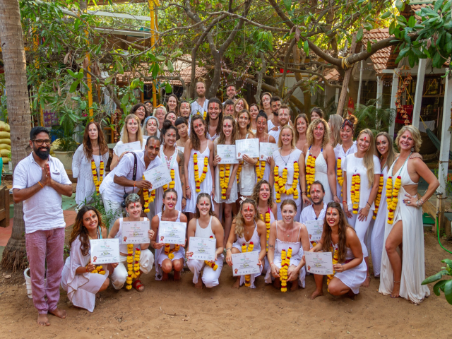 100 hour yoga teacher training course in Goa,  India