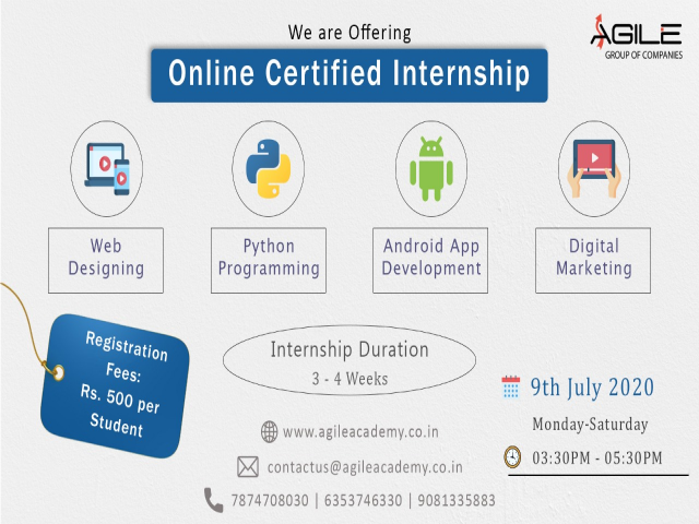 Are you looking for an Free Certified Online Internship?