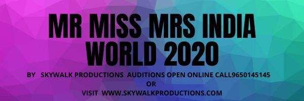 Mr Miss Mrs India World