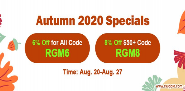 Welcome to Join 2020 Autumn Specials Promotion for Up to 8 off rs gold
