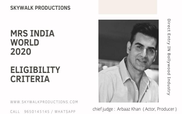 Mrs India World 2020 Eligibility Criteria
