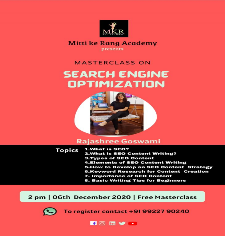 MASTERCLASS ON SEARCH ENGINE OPTIMIZATION