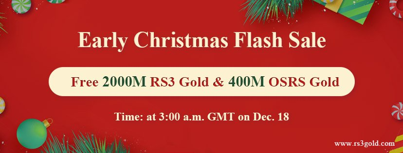One Day Only!Can you Miss Free 2000M rs3 gold for Christmas Holidays Dec.18