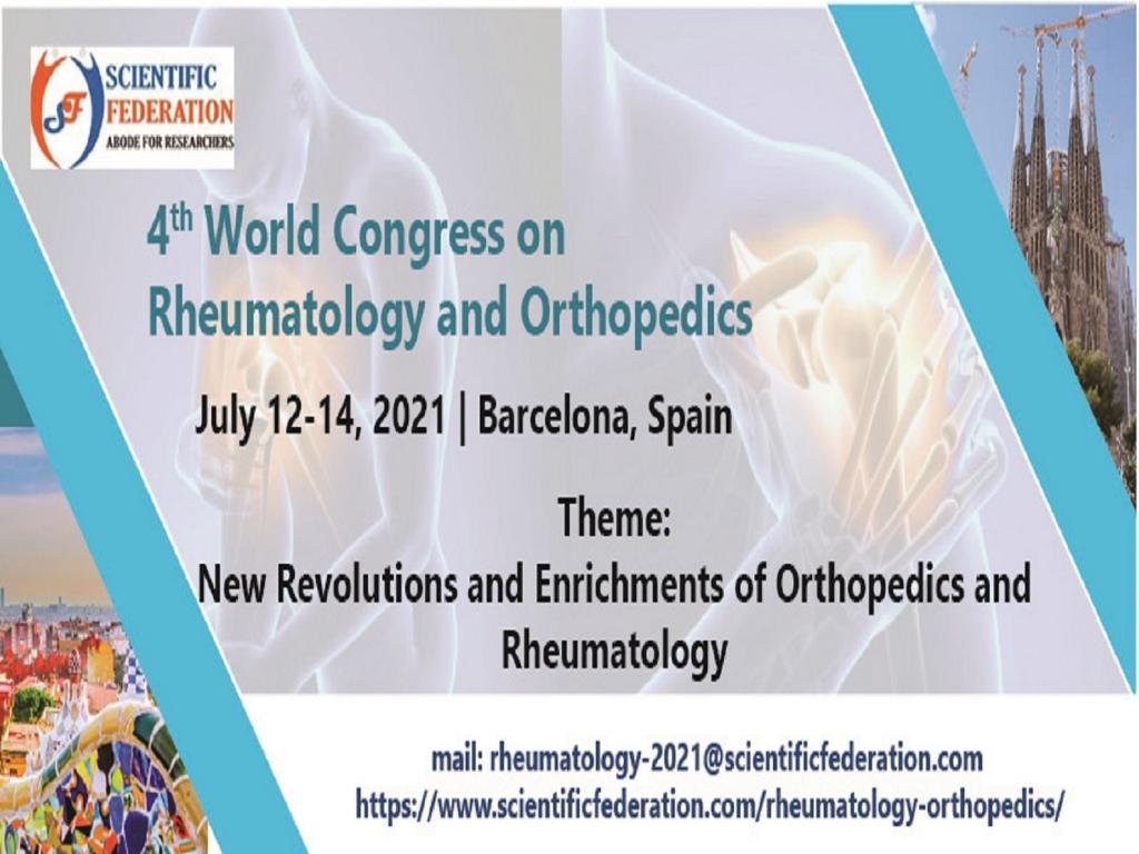 4th World Congress on Rheumatology and Orthopedics
