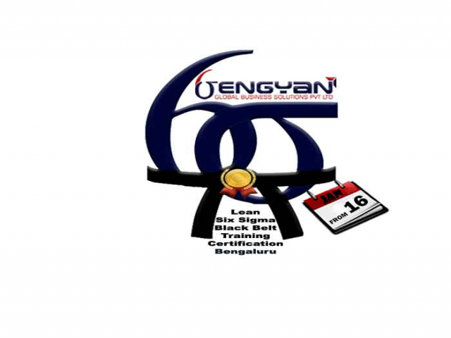 Lean Six Sigma Black Belt Training & Certification Course In Bangalore