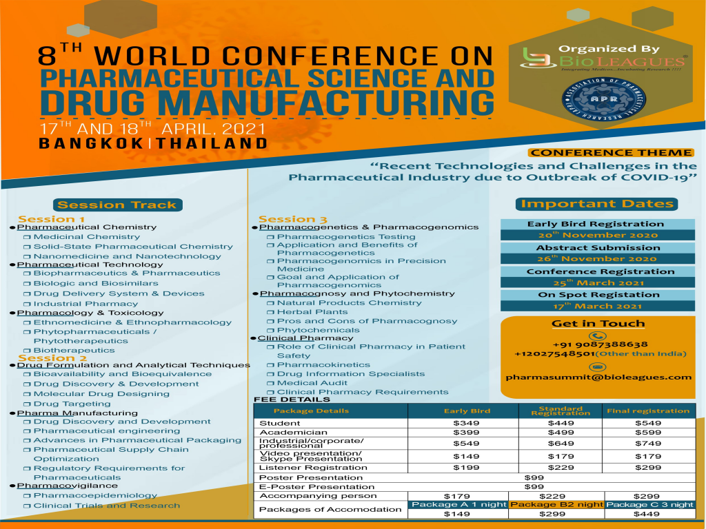 World Conference on Pharmaceutical Science and Drug manufacturing