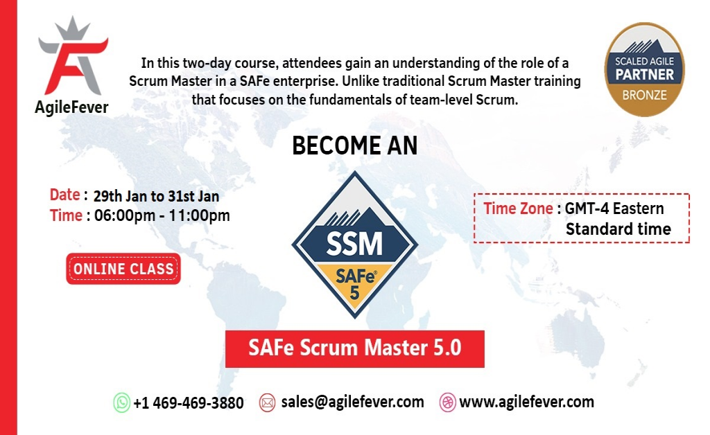 SAFe Scrum Master 5.0   AgileFever   Virtual Classes   Training   Online Certifi