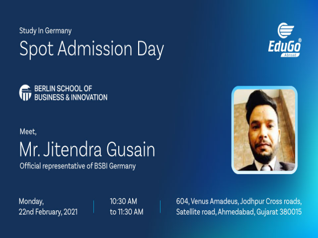 Study In Germany - Spot Admission Day In Ahmedabad
