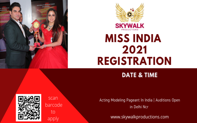 Miss India Registration 2021 | Beauty Pageant