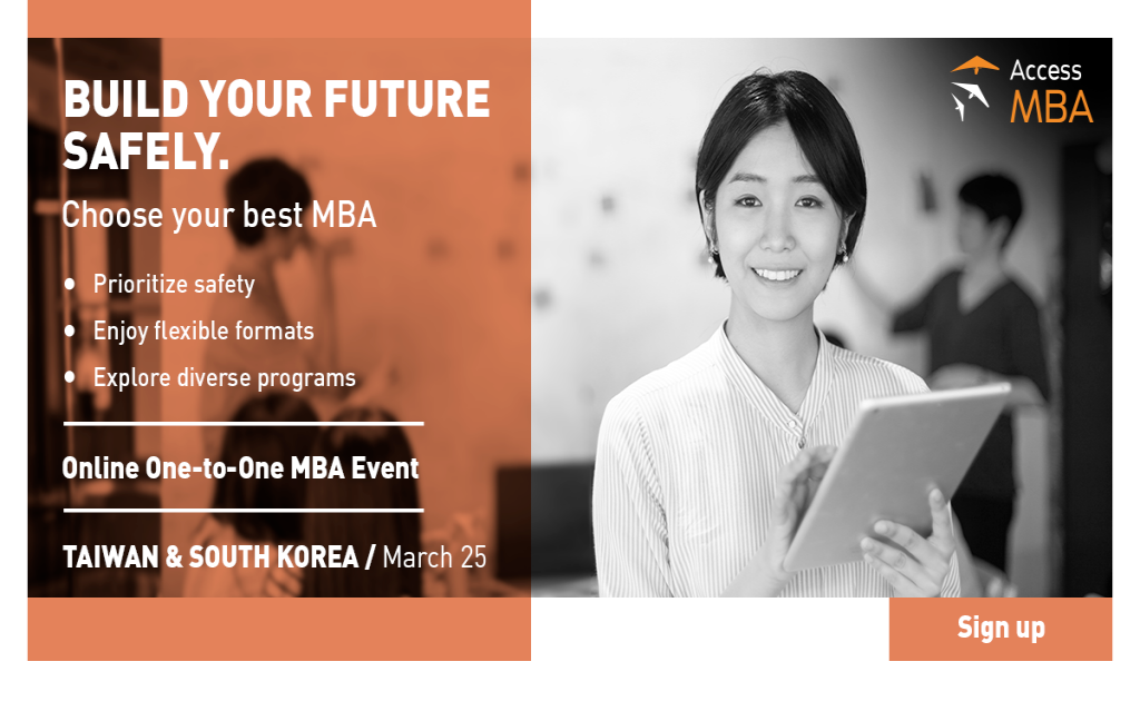 Access MBA Online Event in South Korea and Taiwan