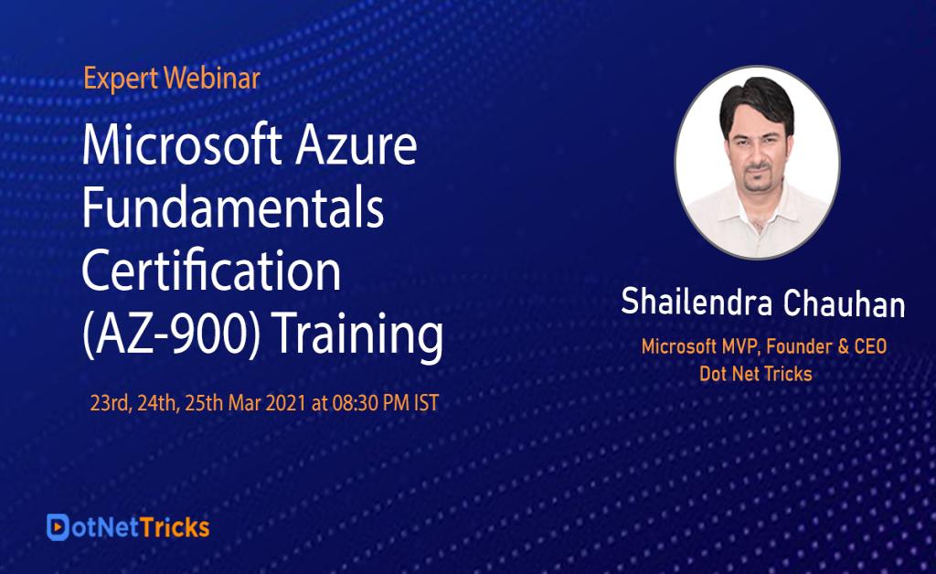 Microsoft Azure Fundamental Certification Training - Dot Net Tricks