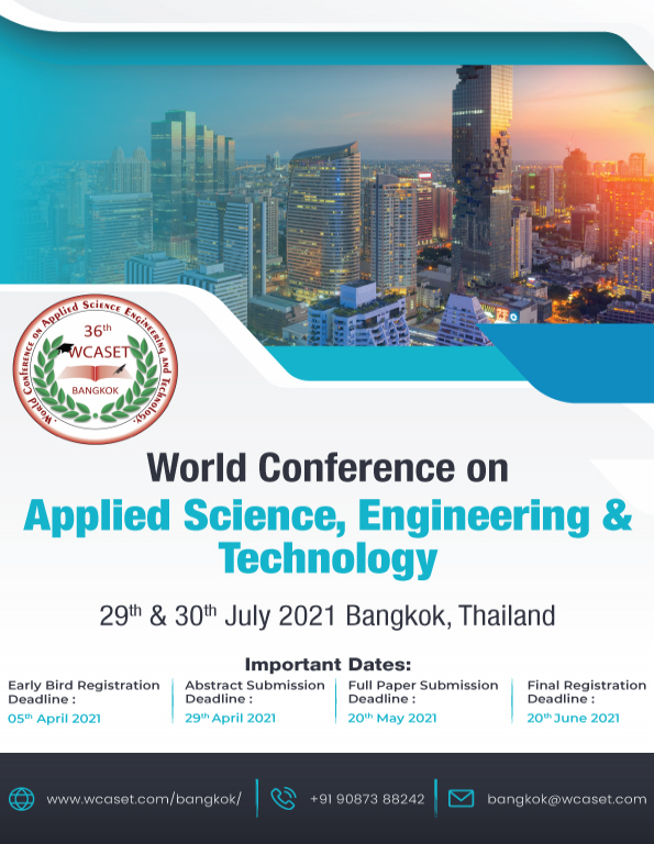 36th World Conference on Applied Science, Engineering and Technology