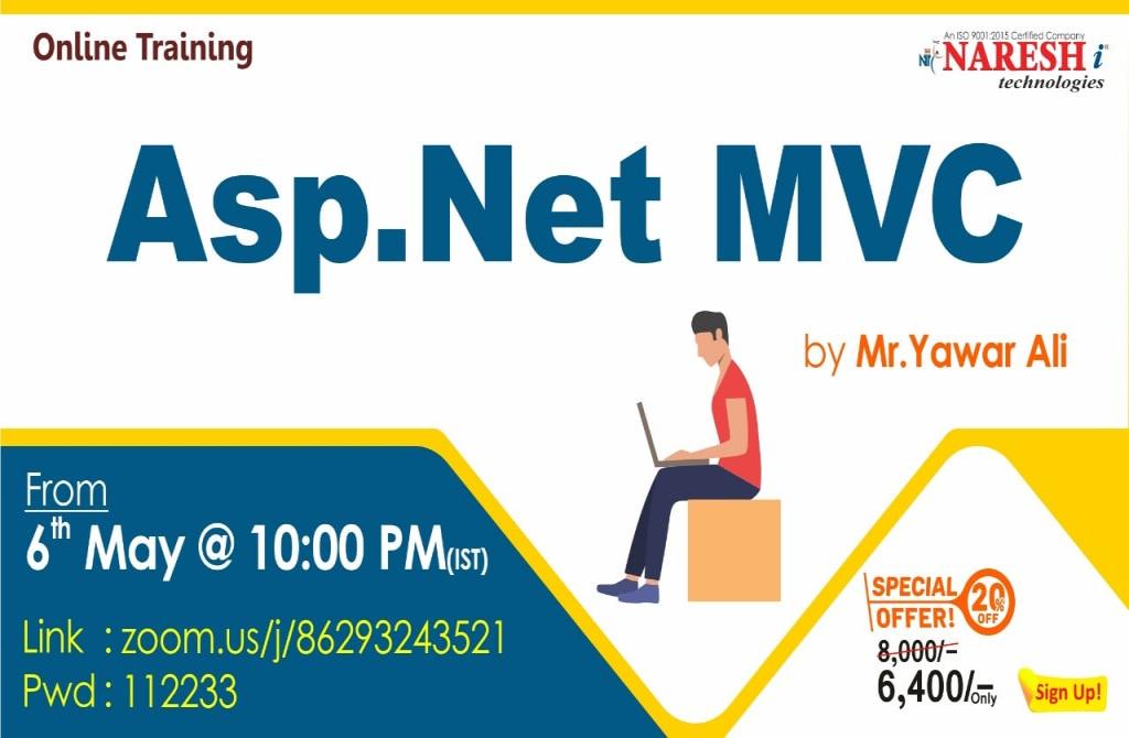 Free Live Online Demo on ASP. Net MVC By Mr. Yawar Ali.