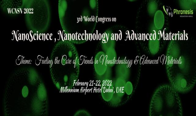 3rd World Congress on Nano Science, Nanotechnology & Advanced Materials WCNSN-20