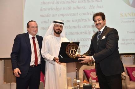 Global Cultural Minister Sandeep Marwah Honoured by UAE