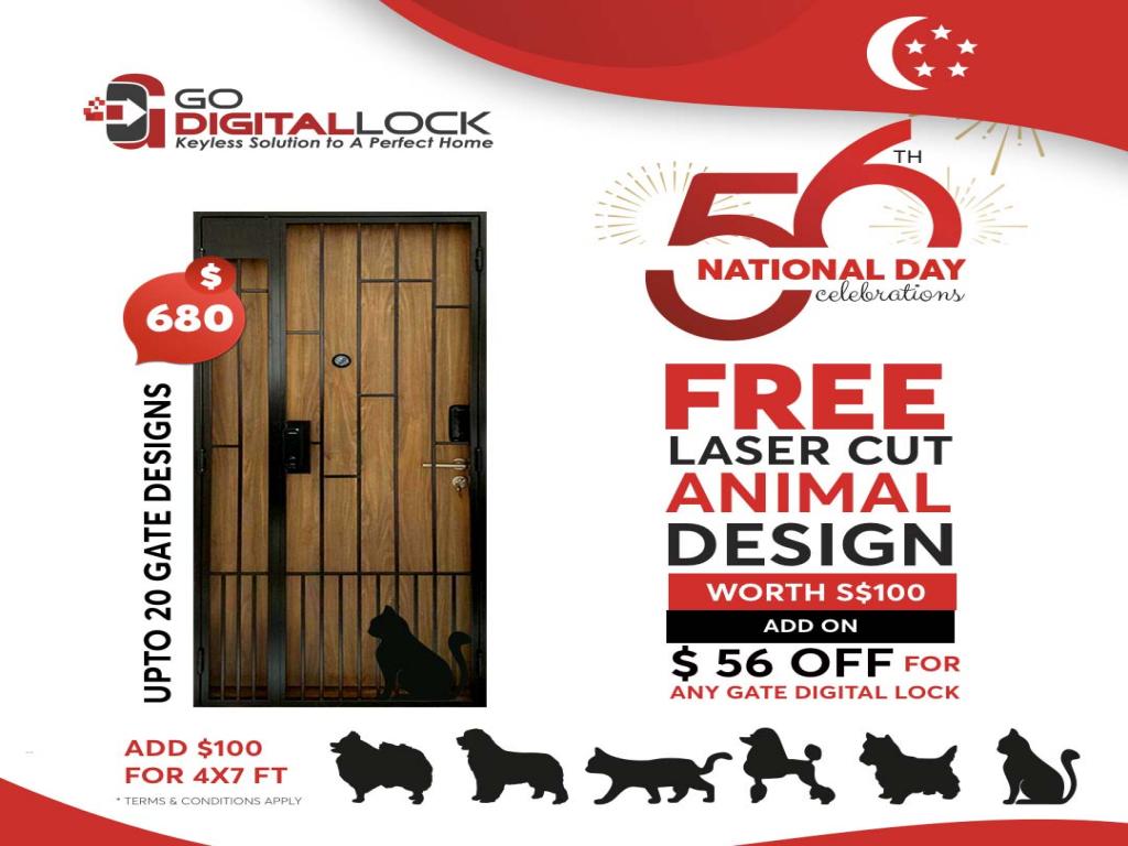 National Day Offer for Mild Steel Gate 2021