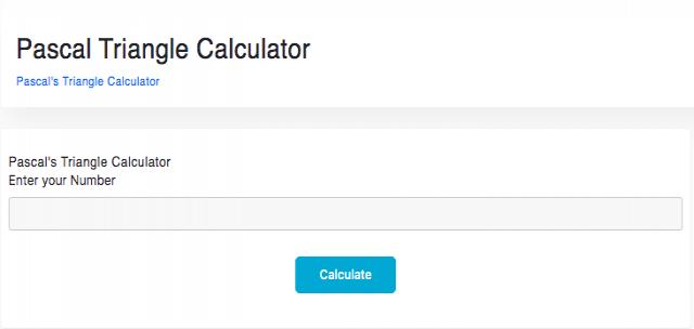 Pascal's triangle calculator - Taskvio
